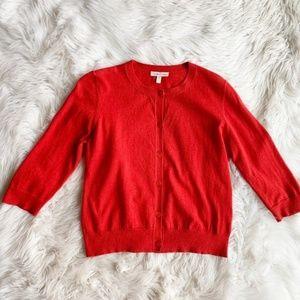 Eileen Fisher Orange Organic Cotton Cardigan E0519